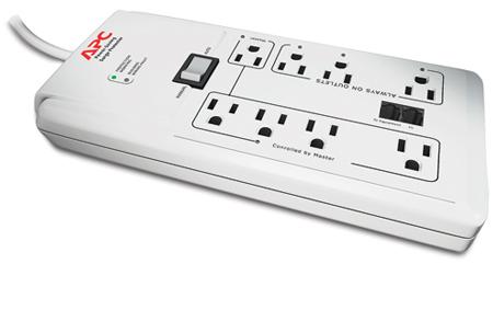 APC Power-Saving SurgeArrest 8 Outlet Surge Protector - P8GT