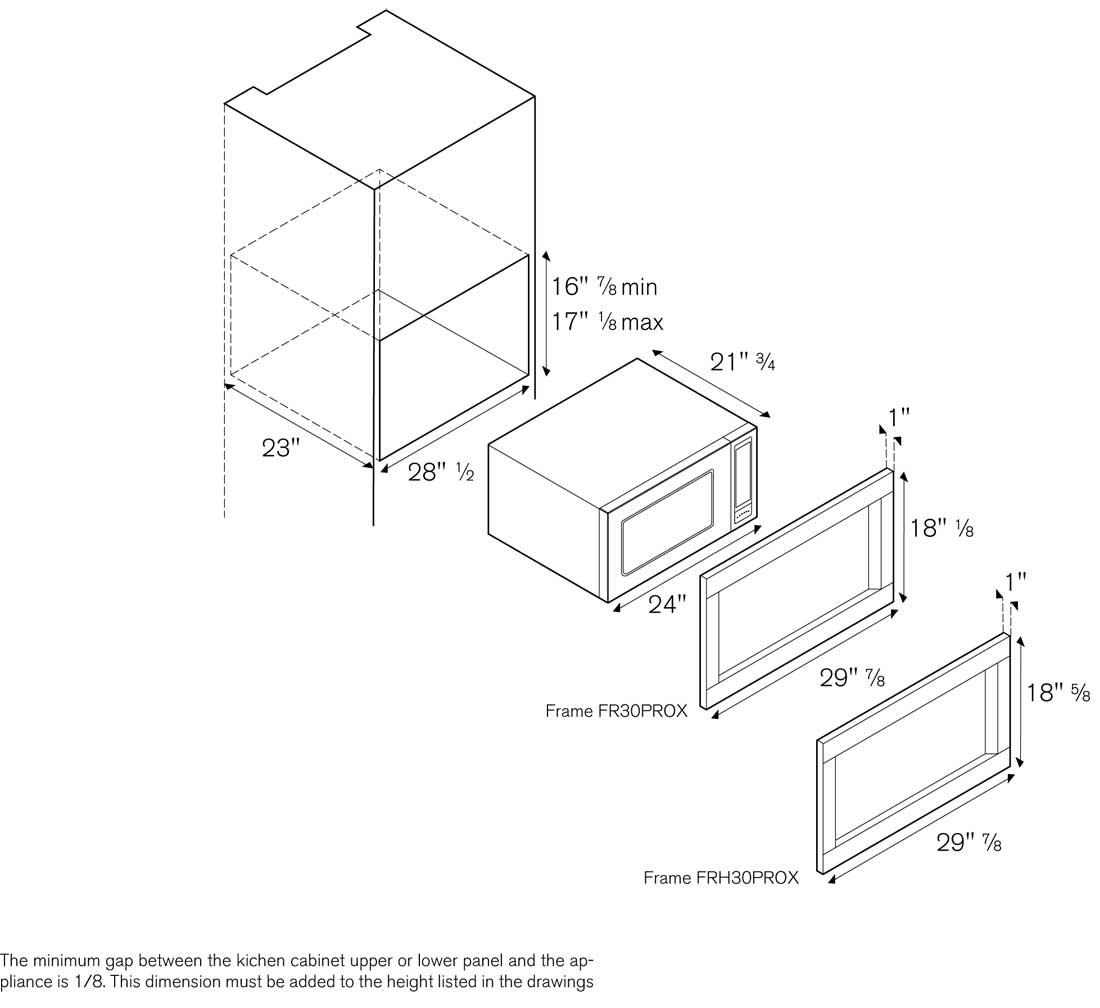 FR30PROX - Cutout Dimensions