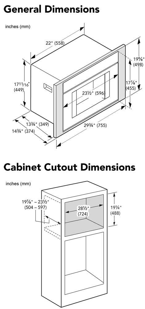 HEZCMT3050 - Cutout Dimensions