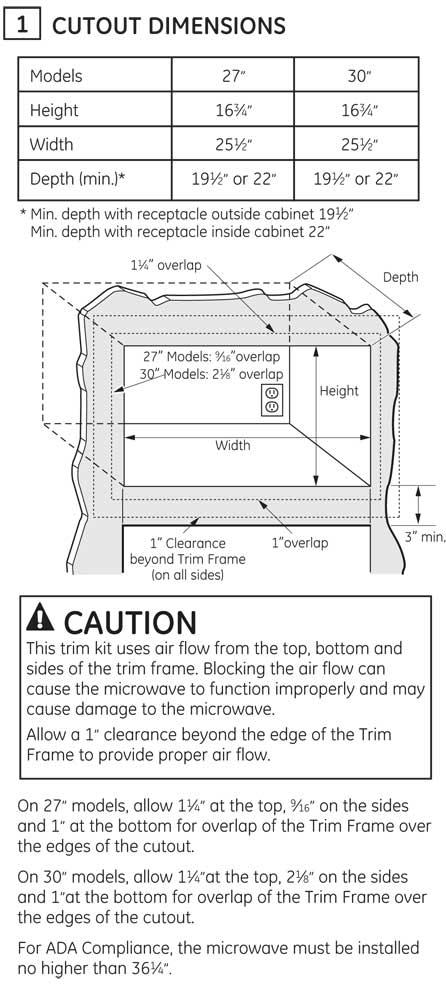 JX7230 - Cutout Dimensions