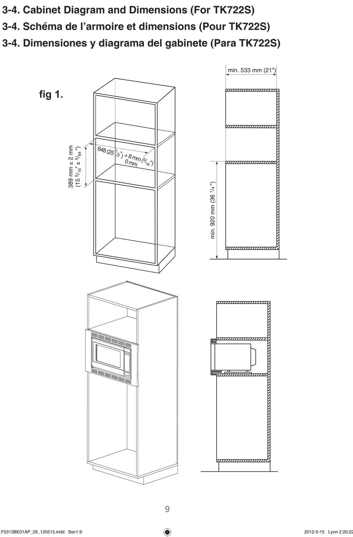 NNTK722SS - Cutout Dimensions