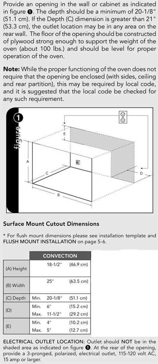 VMTK307 - Cutout Dimensions