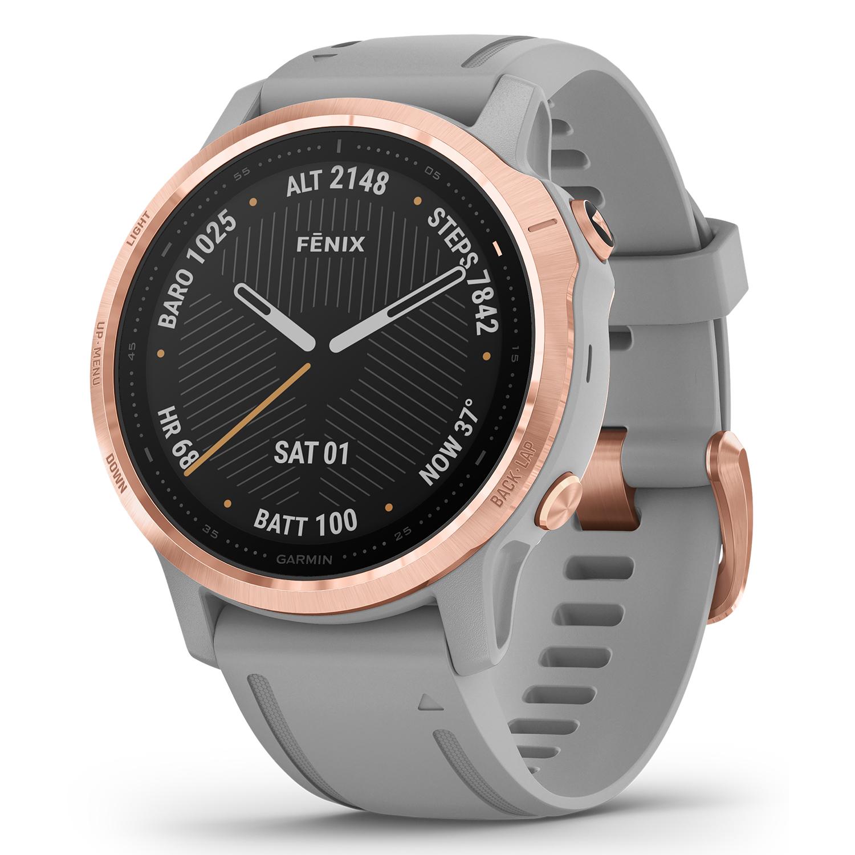 Garmin Fenix 6S Sapphire Rose Gold-tone With Powder Gray Band GPS Multisport Smartwatch 010-02159-20