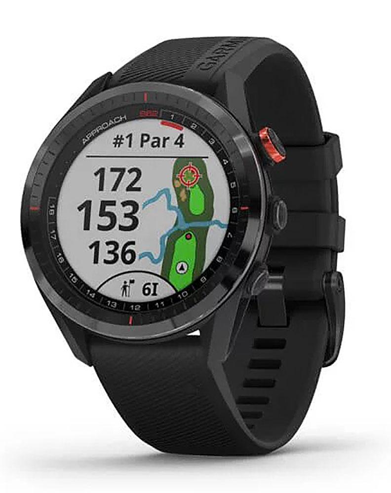 Garmin Approach S62 Black Ceramic Bezel With Black Silicone Band Smartwatch 010-02200-00
