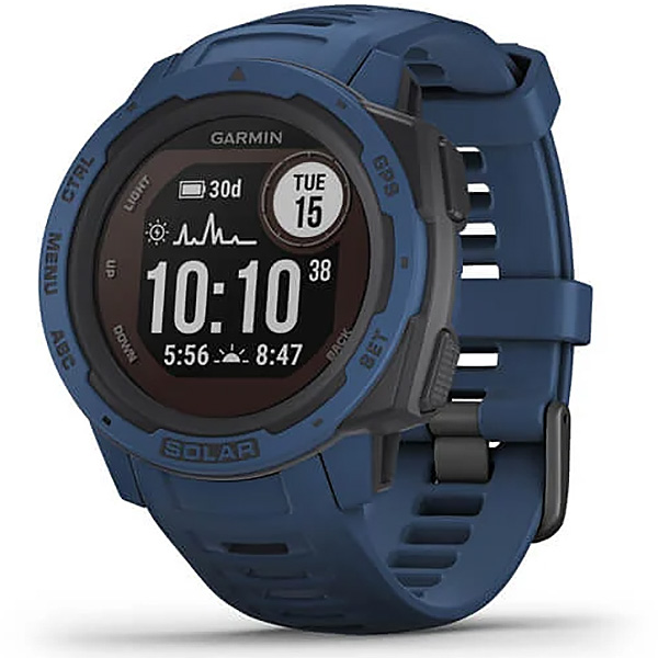 Garmin Instinct Solar Tidal Blue GPS Watch 010-02293-11