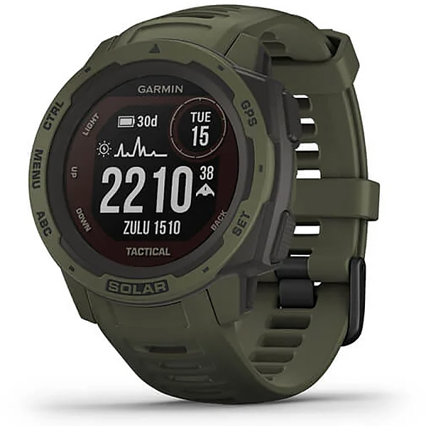 Garmin Instinct Solar Moss Tactical Edition GPS Watch 010-02293-14