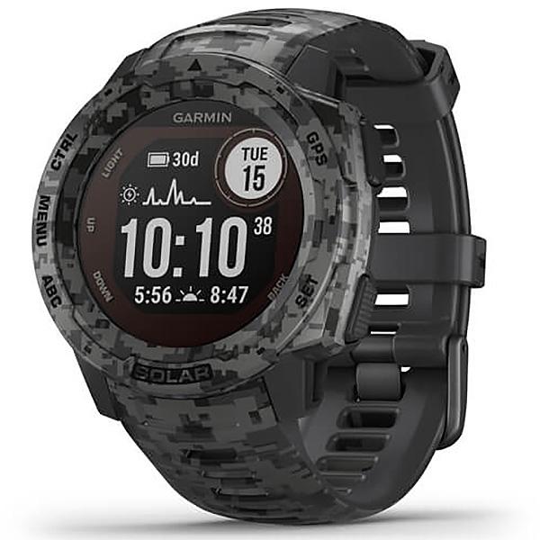 Garmin Instinct Solar Graphite Camo Edition GPS Watch 010-02293-15