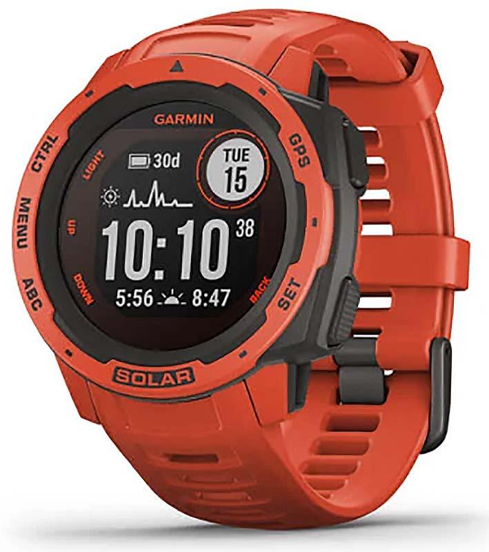 Garmin Instinct Solar Flame Red GPS Watch 010-02293-21