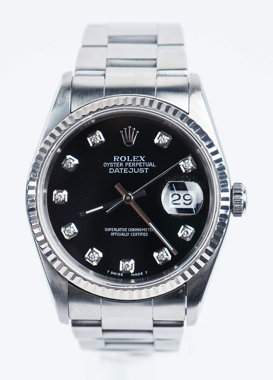 Rolex Oyster Perpetual Datejust Pre Owned Mens Watch 10221