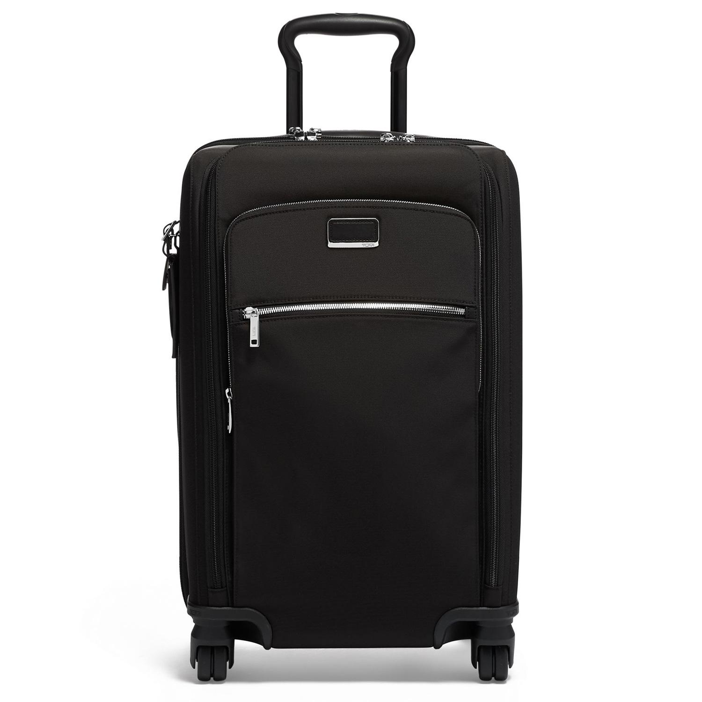 0408fb522 Tumi Larkin Black/Silver Sutter International Dual Access 4 Wheeled Carry-On
