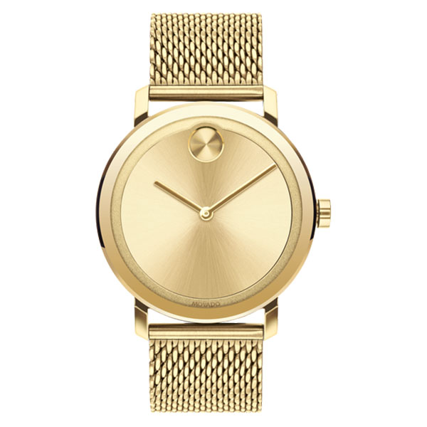 Movado BOLD Evolution 40mm Yellow Gold Mens Watch 3600560