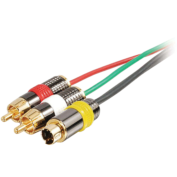 Cables to Go 150 Feet S-Video + RCA Stereo Sudio Cable M/M