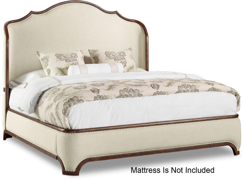 Hooker Furniture Bedroom Archivist King Upholstered Shelter Bed