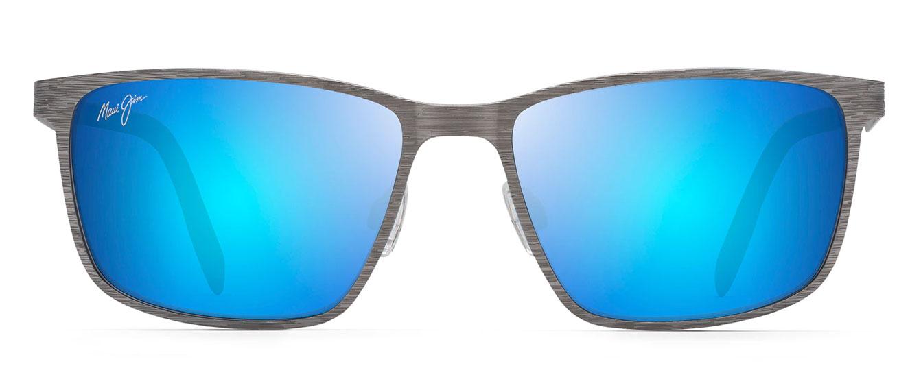 Maui Jim Blue Hawaii Cut Mountain Rectangular Sunglasses