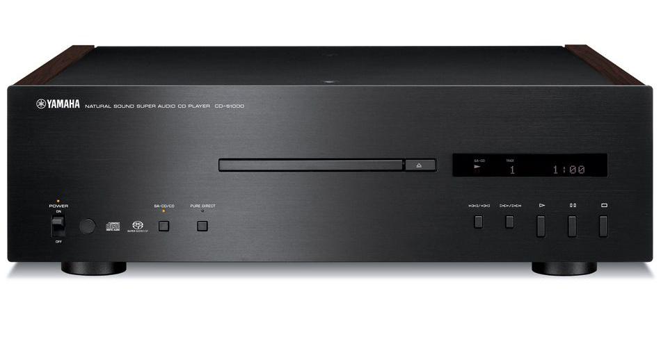Yamaha Black Natural Sound Super Audio Compact Disc Player CD-S1000BL