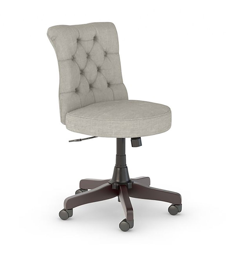 Bush Business Furniture Seating Mid Back Tufted Light Gray Office Chair From Abt Electronics Ibt Shop