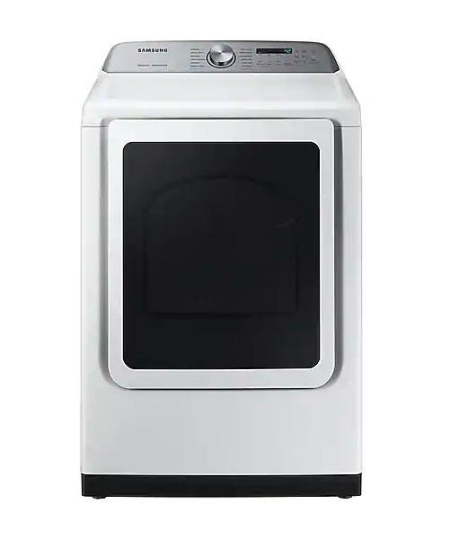 Samsung White Gas Steam Dryer Dvg50r5400w