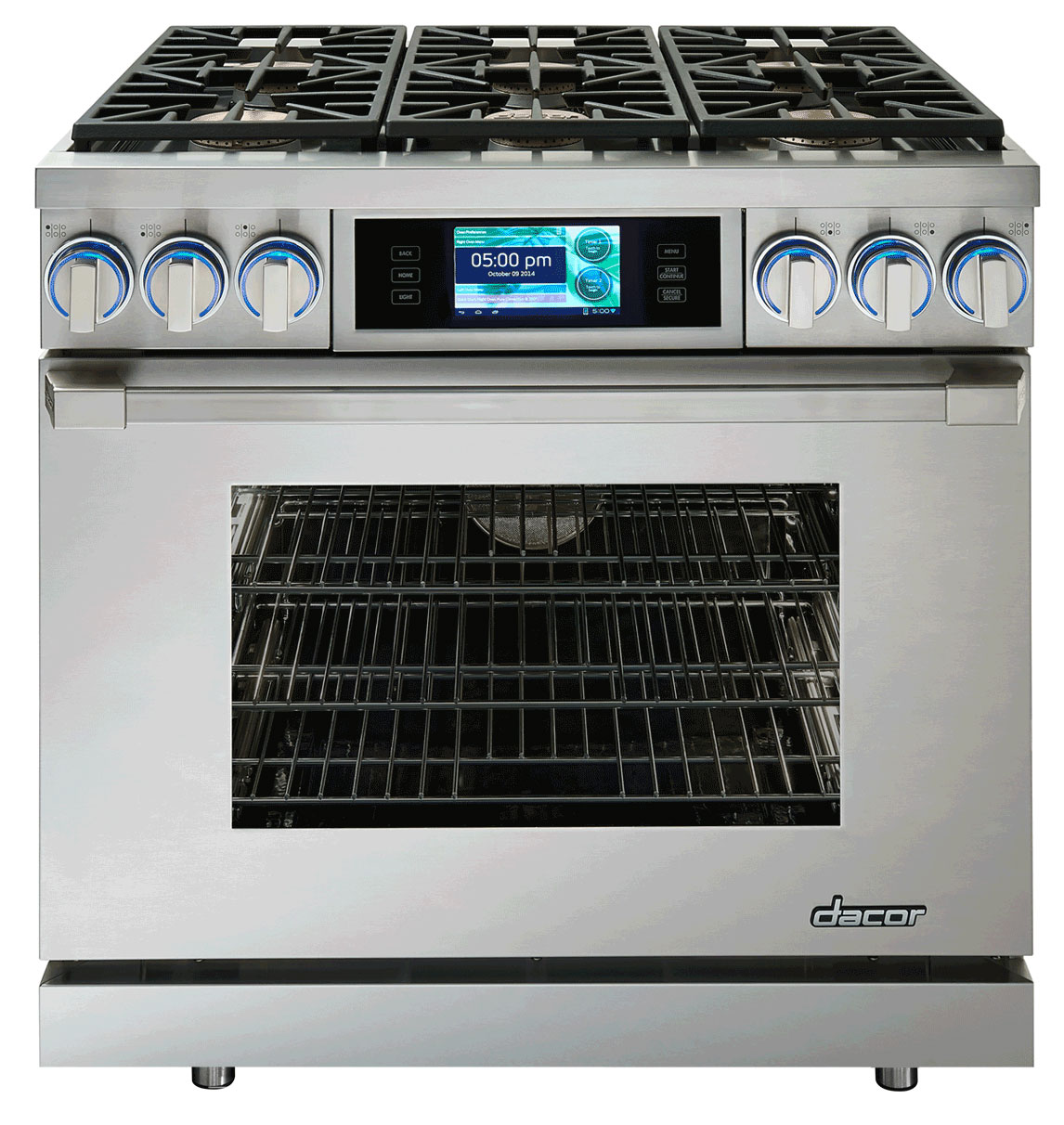"""Dacor Discovery 36"""" Stainless Steel Dual-Fuel Range"""