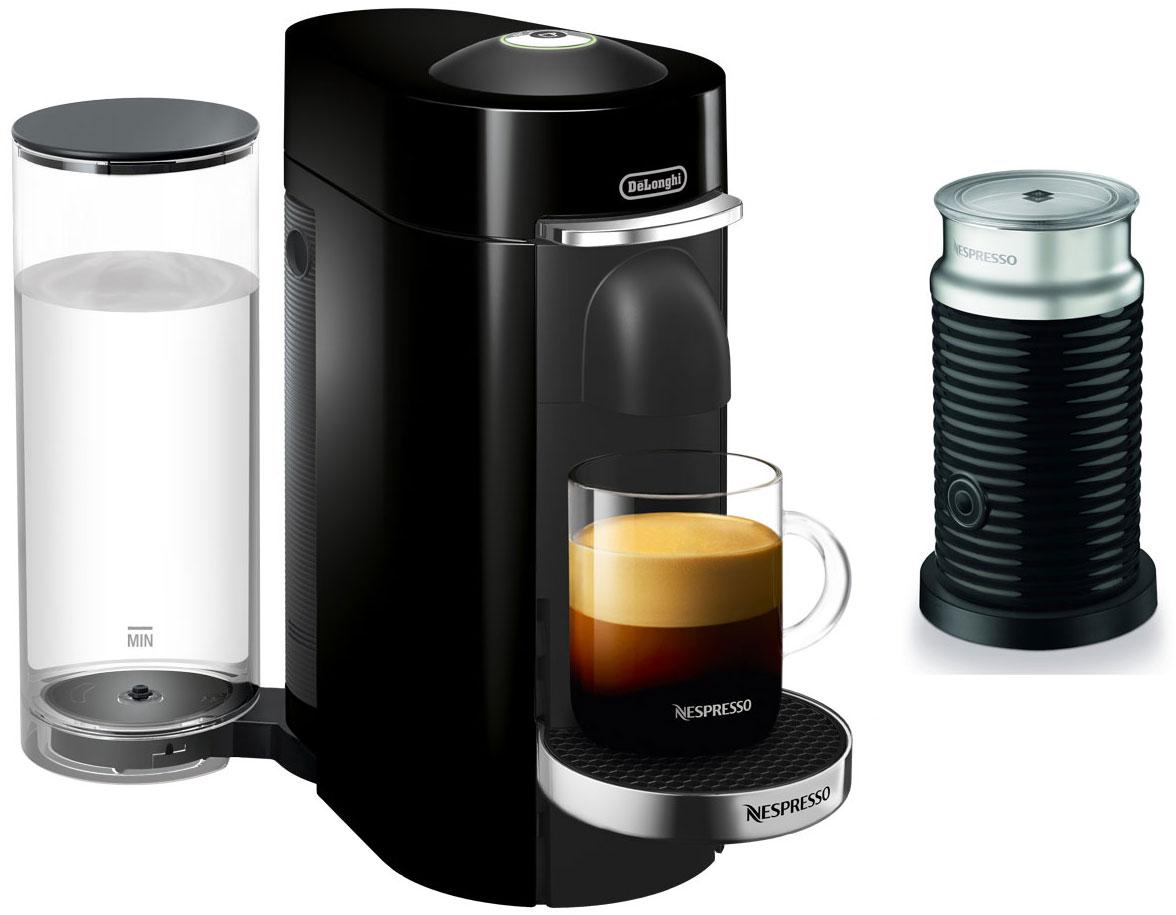 Nespresso Black VertuoPlus Deluxe Espresso Machine Bundle