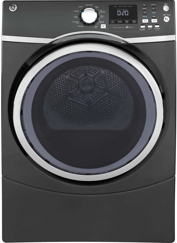 GE Diamond Gray Electric Steam Dryer