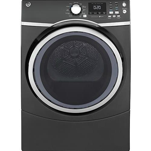 GE Diamond Gray Gas Steam Dryer