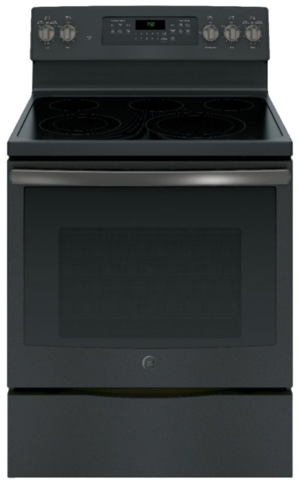 GE 30 Black Slate Freestanding Electric Range