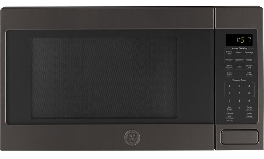 Ge Black Stainless Steel Countertop Microwave Oven