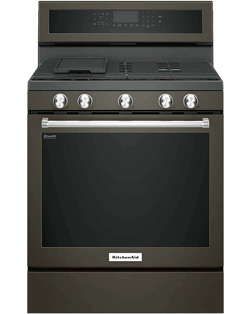 "Kitchenaid S Black Stainless Steel Wowza: KitchenAid 30"" Black Stainless Gas Range"