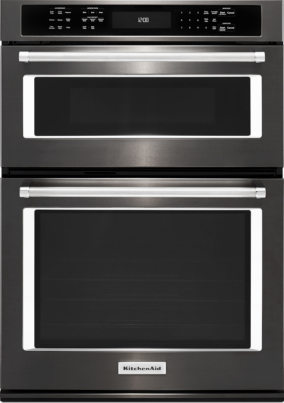 "KitchenAid 27"" Black Stainless Steel Electric Built-In Mi..."