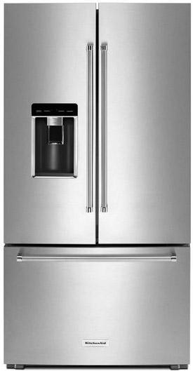 Kitchenaid 23 8 Cu Ft French Door Refrigerator Krfc704fss