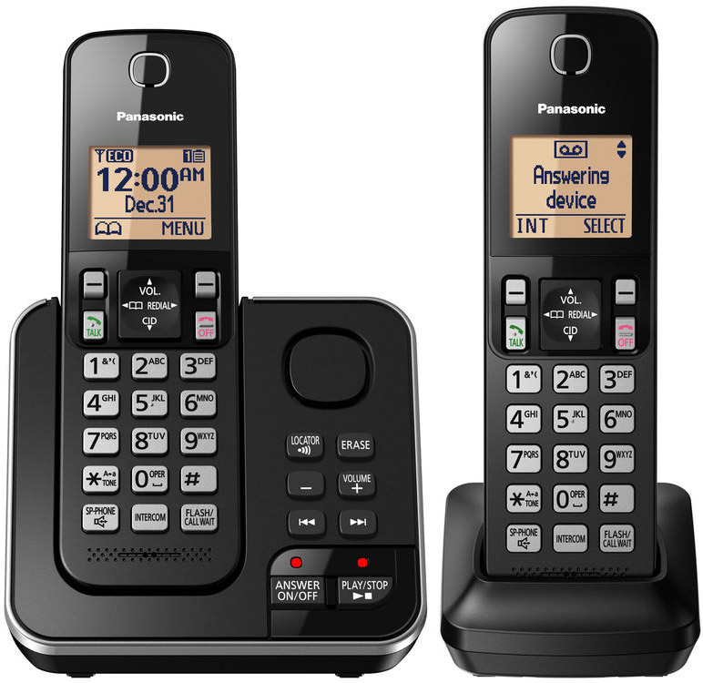 Panasonic Black Expandable Cordless Phone And Answering M...