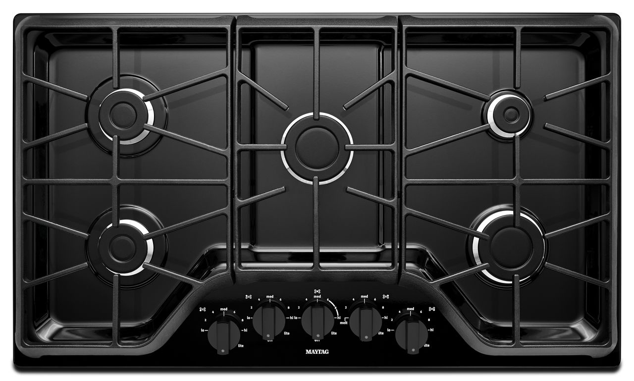Maytag 36 Quot Black Gas Cooktop Mgc7536de Abt