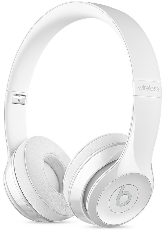 Beats By Dr. Dre Solo3 Gloss White Wireless On-Ear Headphones