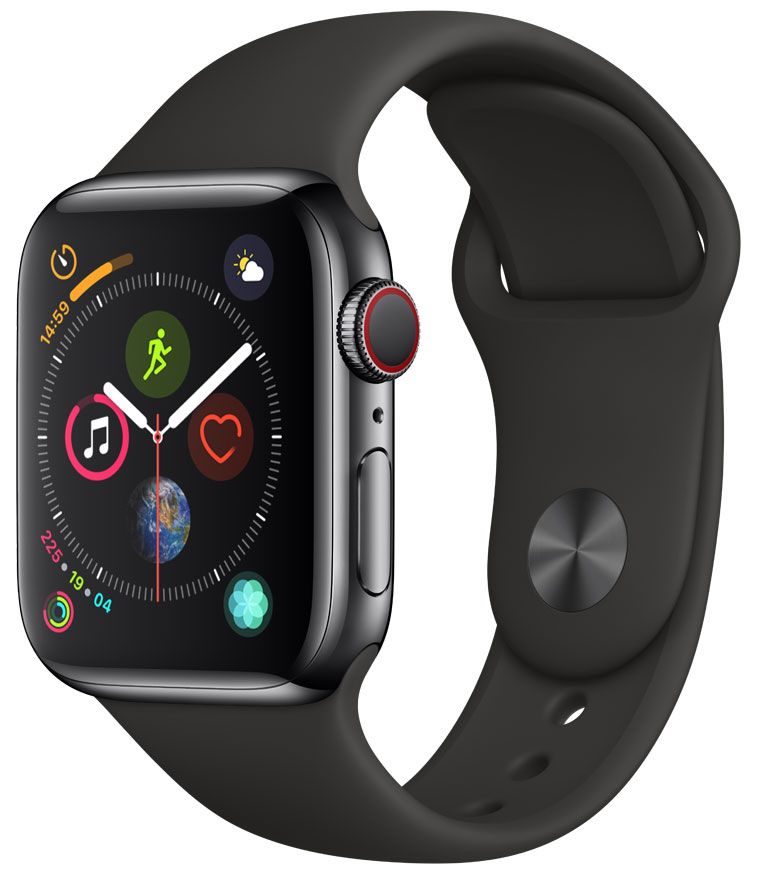 Apple Watch Series 4 Cellular 40mm Black Stainless Black