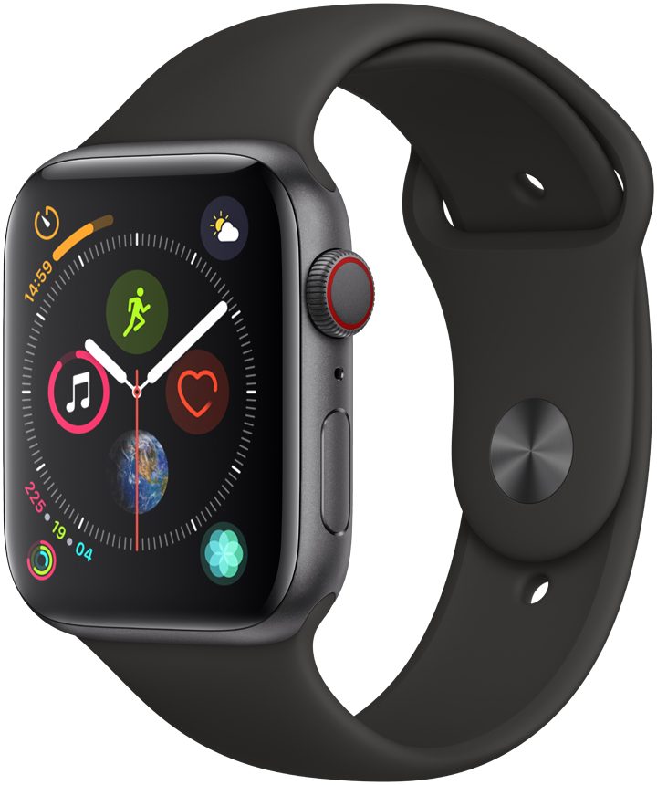 Apple Watch Series 4 Cellular 44mm Space Grey Sport Band
