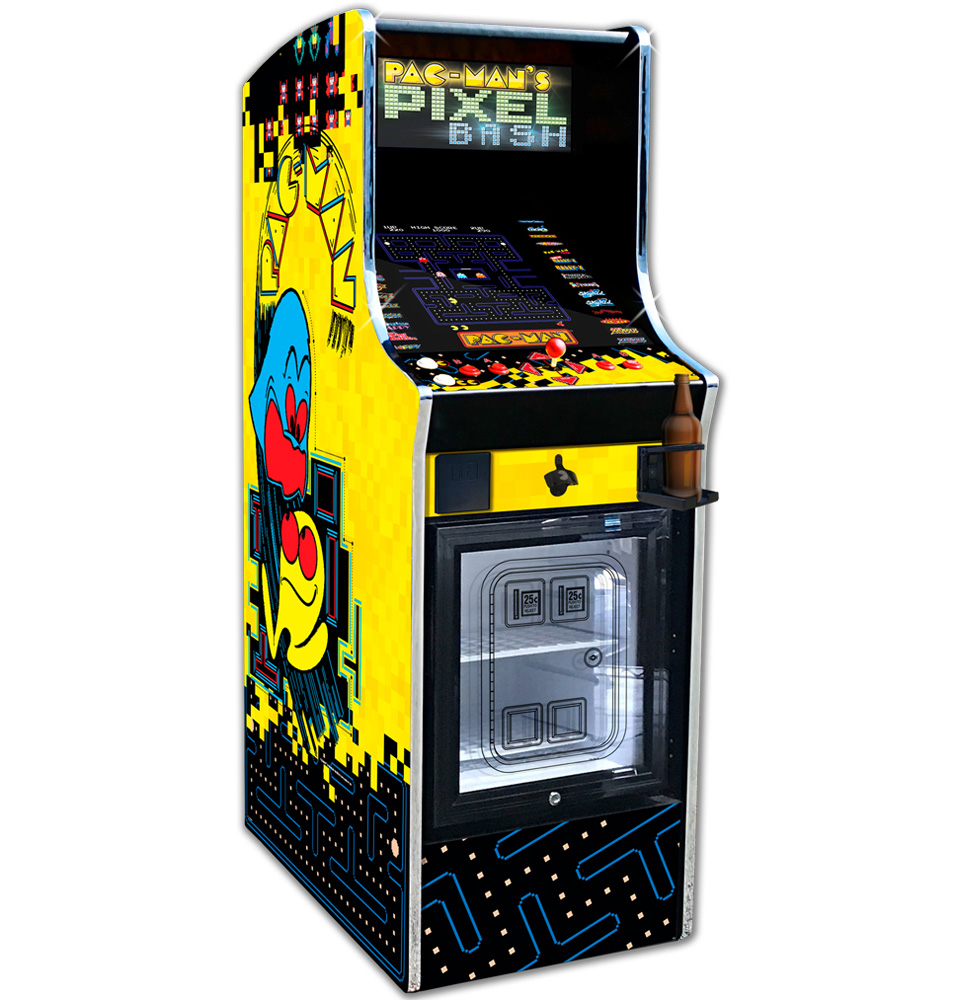 Namco Pac Man S Pixel Bash Cooler With 32 Games Pixelbash