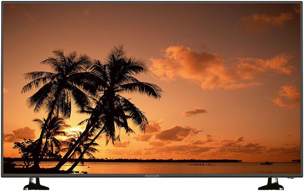 "Proscan 55"" Black Ultra HD 4K LED HDTV"