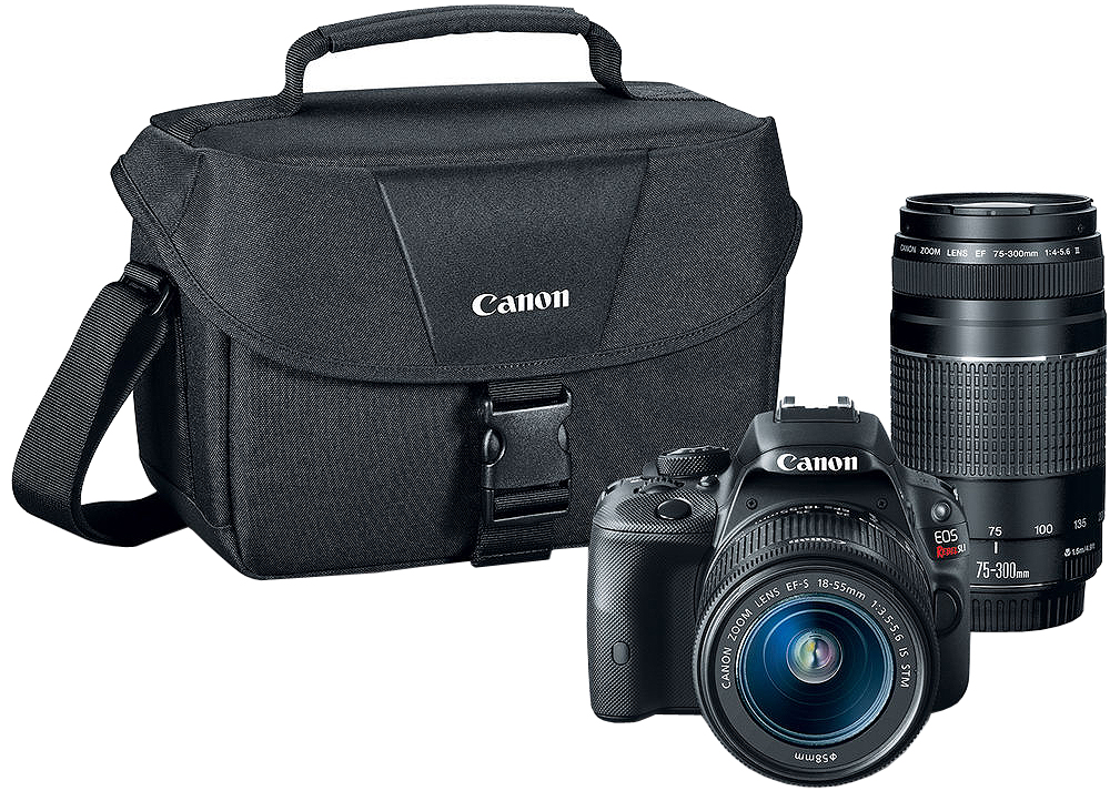 Canon EOS Rebel SL1 DSLR Camera With 18-55mm And 75-300mm...
