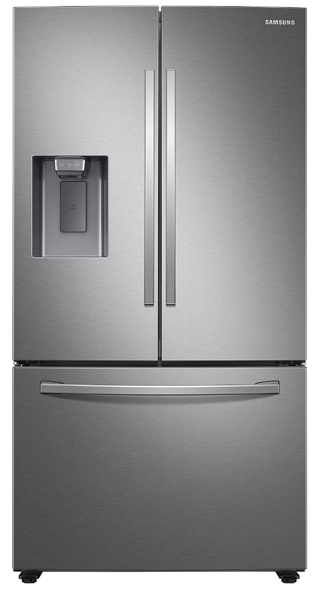 Samsung 27 Cu. Ft. Fingerprint Resistant Stainless Steel French Door Refrigerator With External Water   Ice Dispenser RF27T5201SR/AA