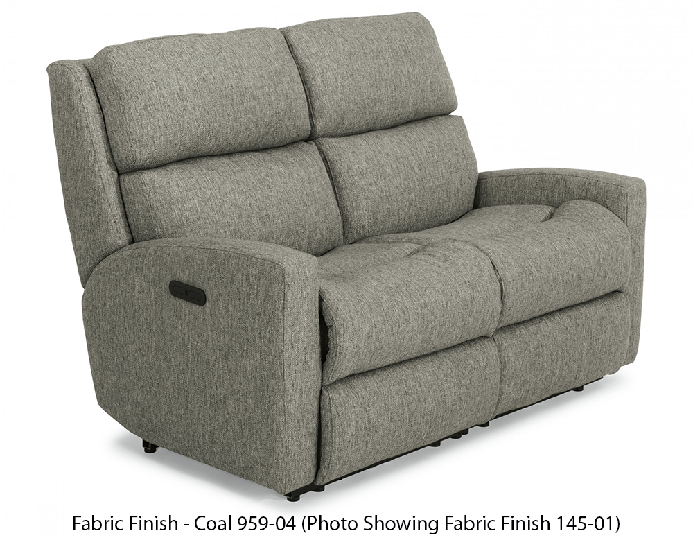 Flexsteel Catalina Fabric Power Reclining Loveseat With Power Headrests