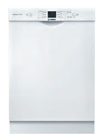 Bosch 24 100 Series White Dishwasher SHEM3AY52N