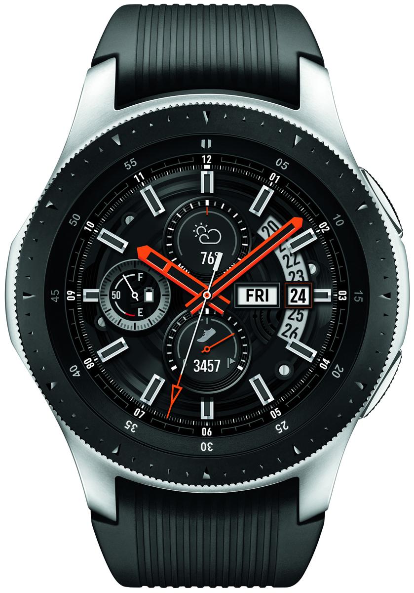 Samsung Silver Galaxy 46mm Smartwatch Sm R800nzsaxar