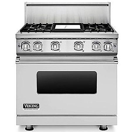"Viking 36"" Stainless Steel 7 Series Freestanding Gas Range"