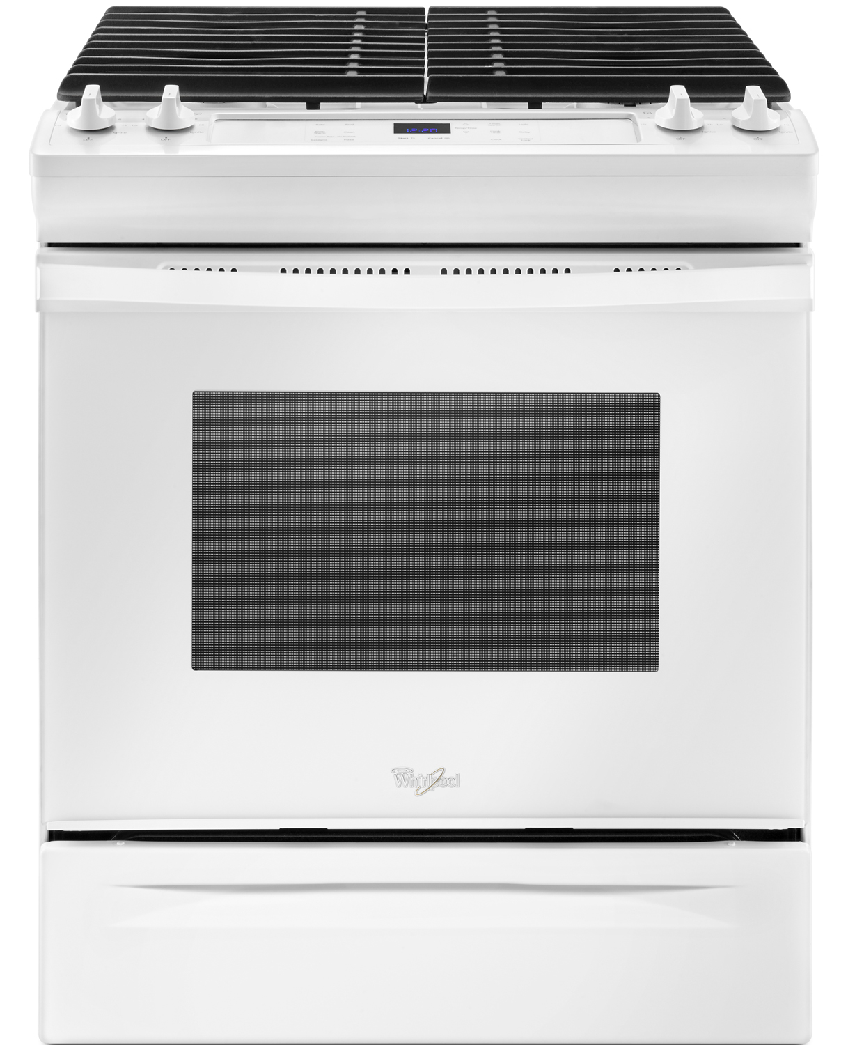 Whirlpool White Slide-In Gas Range