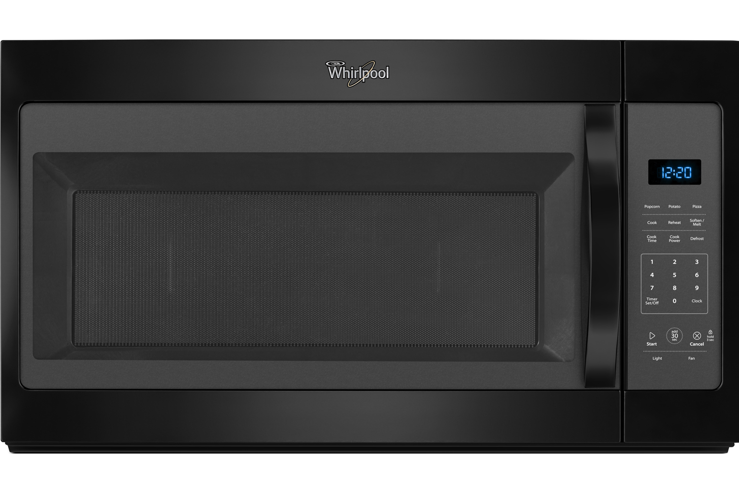 Whirlpool Black Over-The-Range Microwave Hood Combination