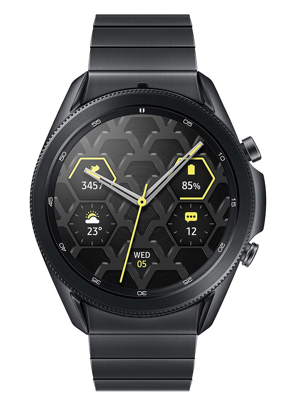 Samsung Mystic Black Galaxy 45mm Watch3 Titanium Bluetooth Smartwatch SM-R840NTKAXAR
