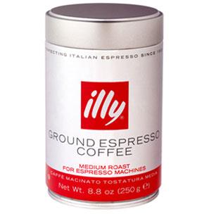 Illy Ground Espresso Medium Roast 8.8 Oz Can