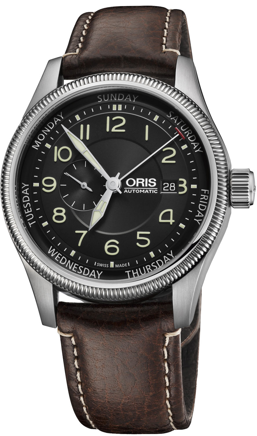Oris Big Crown Small Second Pointer Day Stainless Steel A...