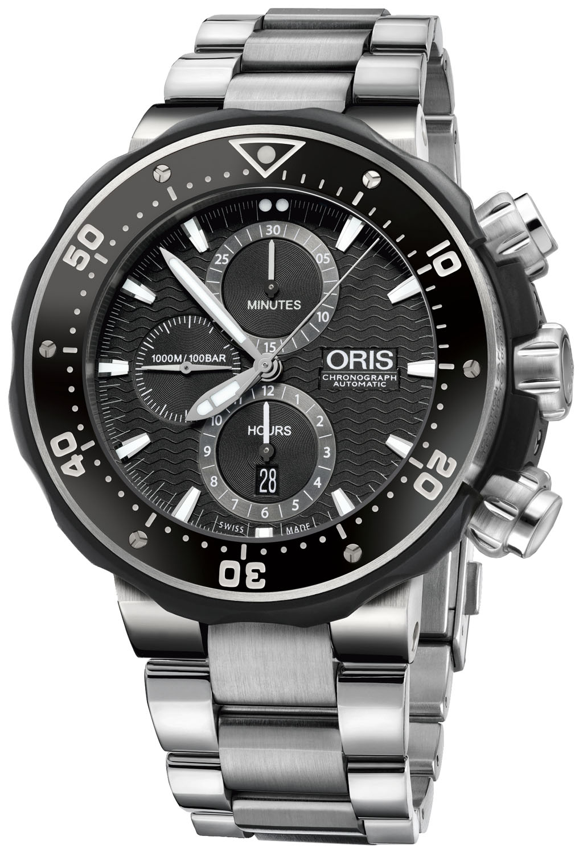 Oris ProDiver Chronograph Titanium And Black Mens Watch