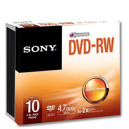 Sony DVD-RW Re-Recordable DVD 4.7 GB Discs